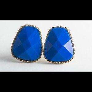 Jewelry - Geometric Blue Gems